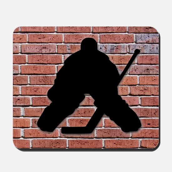 Hockey Goalie Brick Wall Mousepad