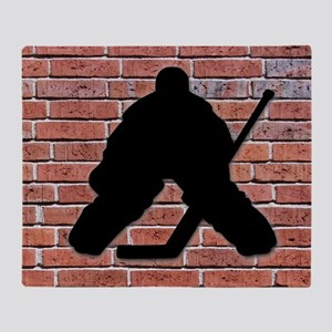 Hockey Goalie Brick Wall Throw Blanket
