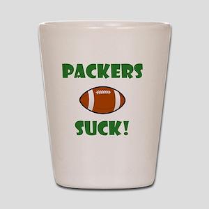 Packers Suck Green Shot Glass