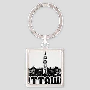 Ottawa Skyline Square Keychain