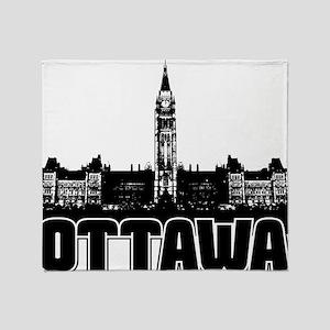 Ottawa Skyline Throw Blanket