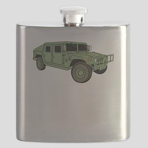 Green Military Humvee Flask