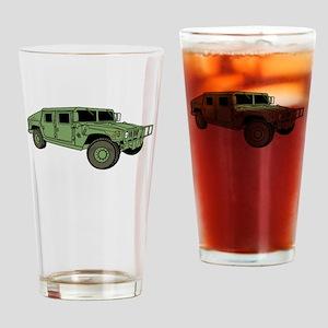 Green Military Humvee Drinking Glass