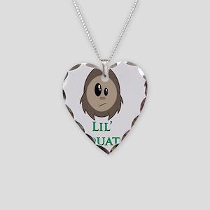 Lil Sasquatch Necklace Heart Charm