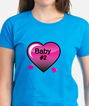 Baby # 2 With Heart T-Shirt