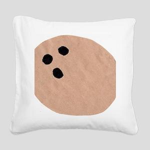 coconut Square Canvas Pillow