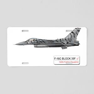 f16_fighting_falcon_block_3 Aluminum License Plate