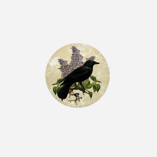 lilac-and-crow_9x12 Mini Button
