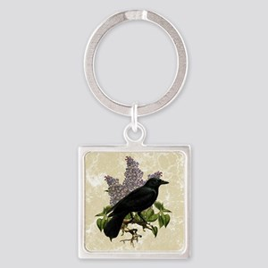 lilac-and-crow_9x12 Square Keychain