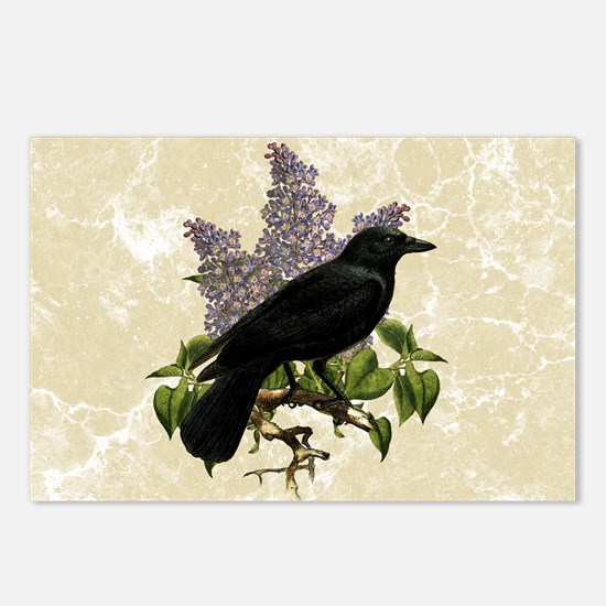 lilac-and-crow_9x12 Postcards (Package of 8)
