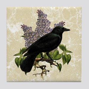 lilac-and-crow_9x12 Tile Coaster