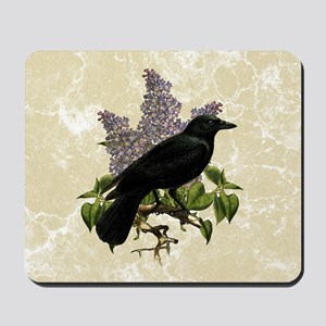 lilac-and-crow_9x12 Mousepad