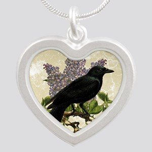lilac-and-crow_9x12 Silver Heart Necklace