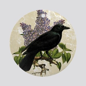 lilac-and-crow_13-5x18 Round Ornament