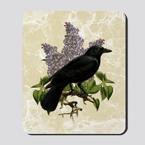 lilac-and-crow_13-5x18 Mousepad