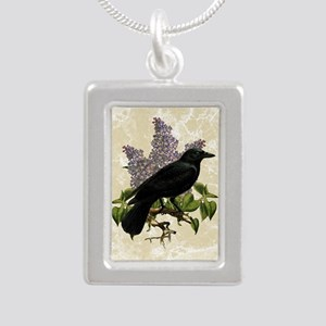 lilac-and-crow_13-5x18 Silver Portrait Necklace