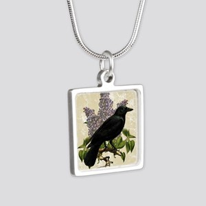 lilac-and-crow_13-5x18 Silver Square Necklace