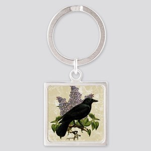 lilac-and-crow_13-5x18 Square Keychain
