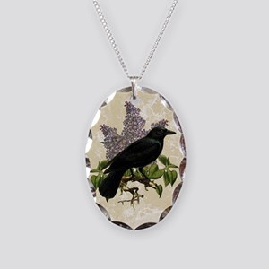 lilac-and-crow_13-5x18 Necklace Oval Charm
