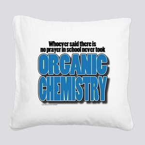 Orcanic Chemistry Square Canvas Pillow