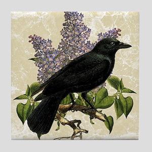 lilac-and-crow_sb Tile Coaster
