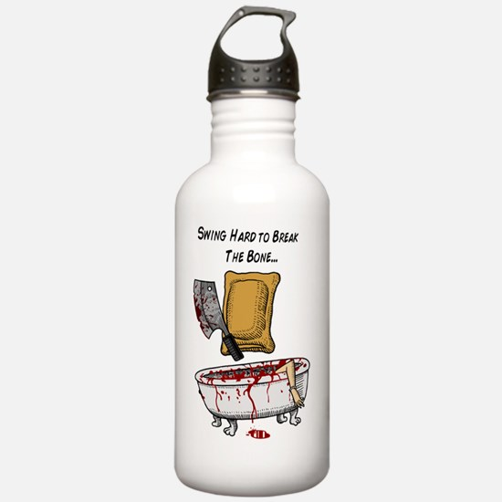 psycho pizza roll Water Bottle