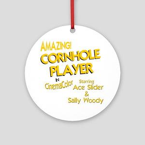 cornhole corn toss Round Ornament