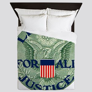 Eagle With Liberty  Justice for All II Queen Duvet