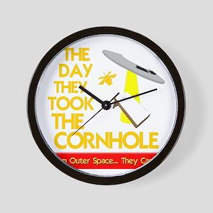 funny cornhole ufo design Wall Clock