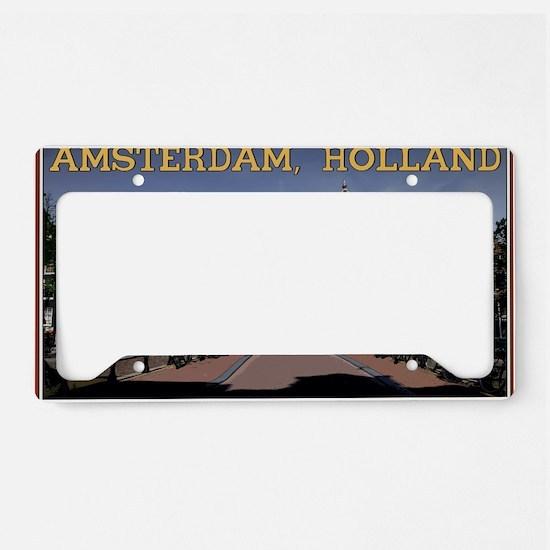 Amsterdam - Bridge and Buildi License Plate Holder