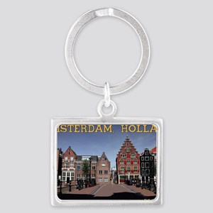 Amsterdam - Bridge and Building Landscape Keychain