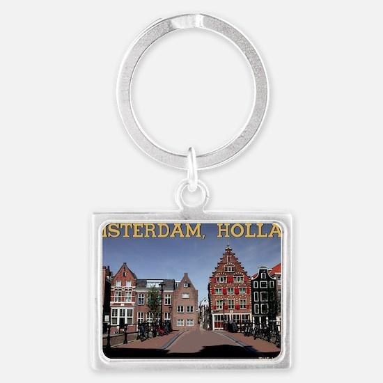 Amsterdam - Bridge and Building Landscape Keychain