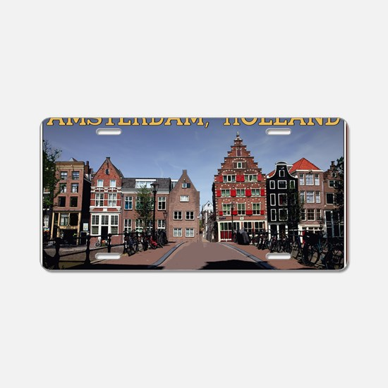 Amsterdam - Bridge and Buil Aluminum License Plate
