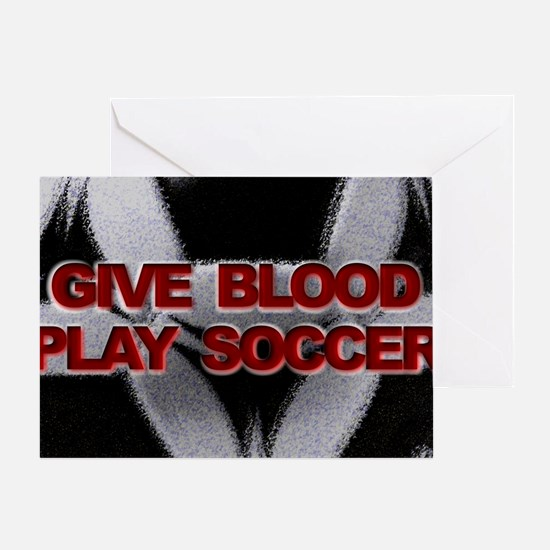 Blood Soccer Greeting Card