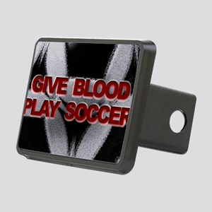 Blood Soccer Rectangular Hitch Cover