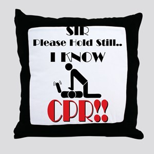 i know cpr Throw Pillow