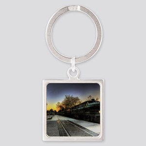 all aboard Square Keychain