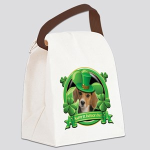 Happy St Patricks Day Beagle Canvas Lunch Bag