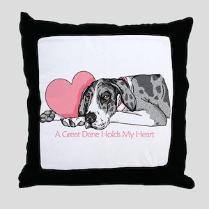 MerleB UC Holds Heart Throw Pillow