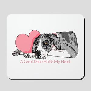 MerleB UC Holds Heart Mousepad