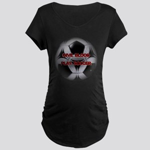 Blood Soccer Maternity Dark T-Shirt