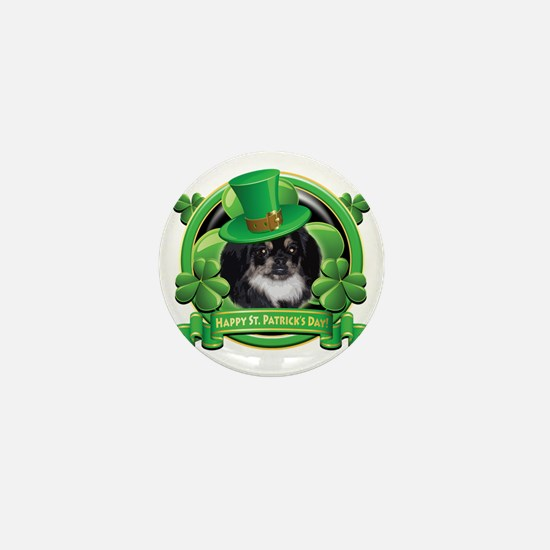 Happy St Patricks Day Pekingnese Mini Button