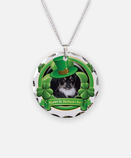 Happy St Patricks Day Peking Necklace