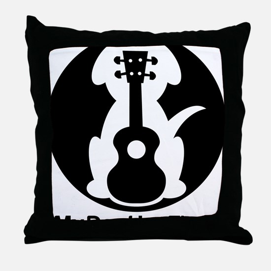 My Dog Has Fleas Ukulele Throw Pillow
