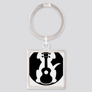 My Dog Has Fleas Ukulele Square Keychain