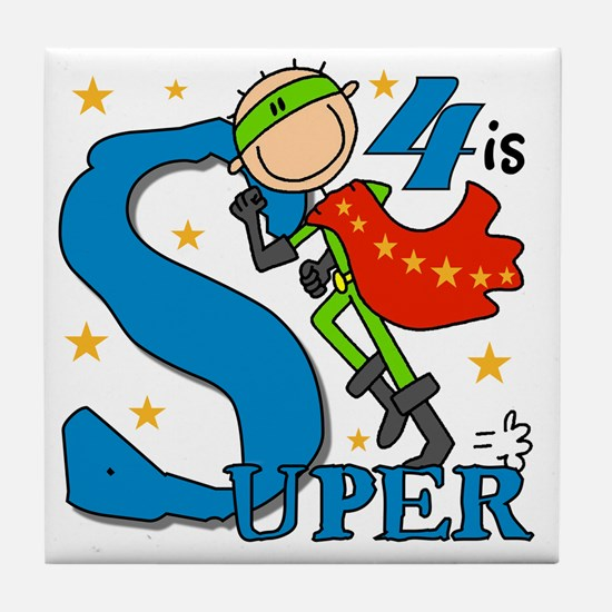 BIRTHDAYSUPER4 Tile Coaster
