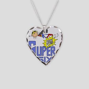 girlsuperSIX Necklace Heart Charm