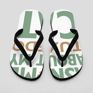 cattuxedo-01 Flip Flops