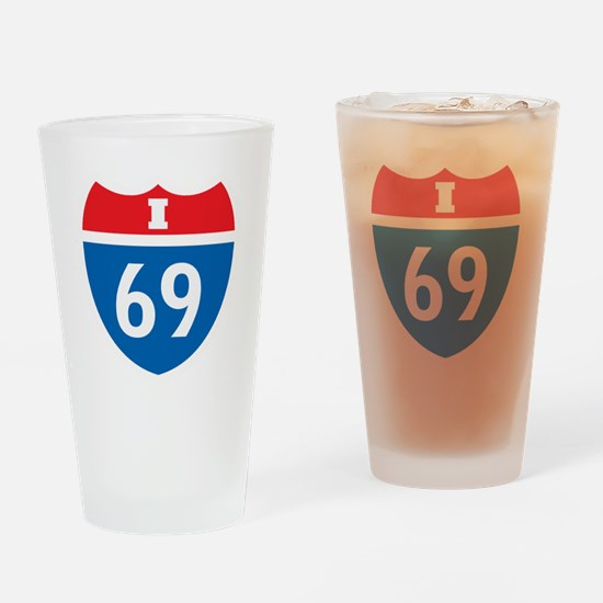 +i69 Drinking Glass