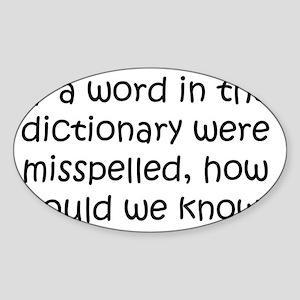 dictionary_btle1 Sticker (Oval)